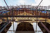 A Temple In Wat Phra Kaew On Maintenance
