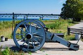 Cannon near the Mackinac Bridge