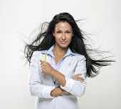 Beautiful woman in advertisement  business