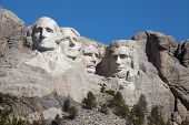 image of mount rushmore national memorial  - Mount Rushmore in South Dakota - JPG