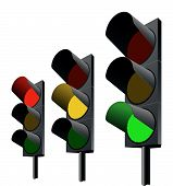Traffic Lights. Vector.