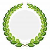 Vector Green Laurel Wreath