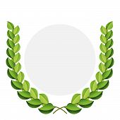 Vector Green Laurel Wreath.