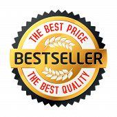 Emblema do Best-seller. Vector