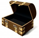 Empty Treasure Chest. Vector