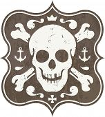stock photo of skull crossbones flag  - skull and crossbones - JPG