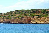 foto of vilamoura  - Cliffs Baleeira Albufeira in the Algarve Portugal  - JPG