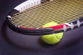 Tennis Concepts: Tennis Racket With Tennis Ball