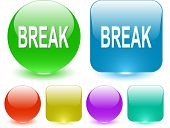 Break. Interface element. Raster illustration.