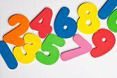 Horizontal trail of numbers