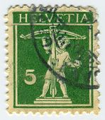 SWITZERLAND - CIRCA 1930: A stamp printed in Switzerland shows image of the Eros, in Greek mythology