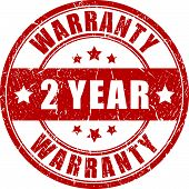 Two year warranty stamp