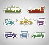 flat retro color stickers - set three