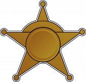 Sherriff Badge Vector