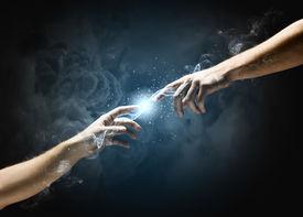 picture of hand god  - Michelangelo God - JPG