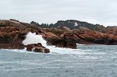 Pink Granite Coast Near Seven Islands