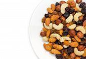 Nuts In Plate Closeup