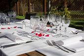 Elegance Table Set Up For Dinning Room