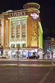 Lisbon, Portugal - June 16, 2013: Hard Rock Cafe in the Liberdade Avenue. Using the former Condes Mo