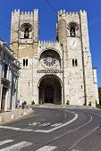 Lisbon, Portugal - May 26, 2013: The See Cathedral of Lisbon (Se de Lisboa), Portugal - The only rem