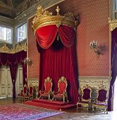 Lisbon, Portugal, June 10, 2013: The Throne Room of the Ajuda National Palace, Lisbon, Portugal - 19
