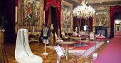 Lisbon, Portugal, June 10, 2013: Hall of Order (Sala do Despacho) in Ajuda National Palace, Lisbon,