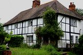 Dilapidated Tudor Style House