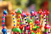 KRASNODAR, RUSSIA - SEPTEMBER 28 - Fun homemade giraffe figurines at the fair, Krasnodar city day on