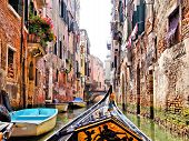 Venice canal scene with gondola