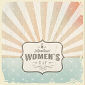 International Woman's Day  With  Vintage  Background
