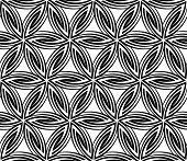 Seamless Floral Circular Pattern. Rasterized Version