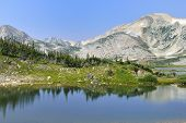 Medicine Bow Mountains In Wyoming