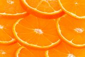 Healthy Food, Abstract Background. Orange Slices