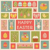 Holiday Card With Easter Element.