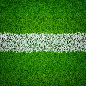 stock photo of grass area  - soccer field top view with realistic green grass textured - JPG