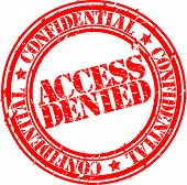 pic of denied  - Grunge access denied rubber stamp - JPG
