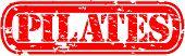 Grunge pilates rubber stamp, vector illustration