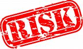 stock photo of risk  - Grunge risk rubber stamp - JPG