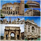 Rome Photo Collage