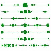 collection of vector st. patrick's monograms with shamrock