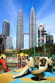 Petronas Twin Towers at Kuala Lumpur, Malaysia.
