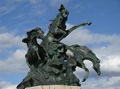 Three Horse Statue