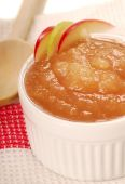 Applesauce With Apple Garnish