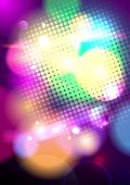 Bright pop-art bokeh background, vector Eps10.