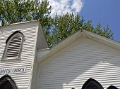 Close-up Of 150 Year Old Baptist Church