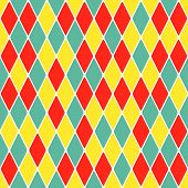 Harlequin parti-coloured seamless pattern.