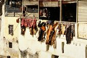 Fez, Morocco. The Tannery Souk Of Weavers