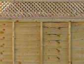 Fence panel wood
