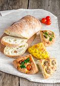 Four-section Focaccia And Ciabatta