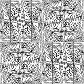 Abstract Black And White Grafic Pattern